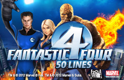 Fantastic Four - 50 lines Slots Jackpots Movie Slots Movie Slots Game